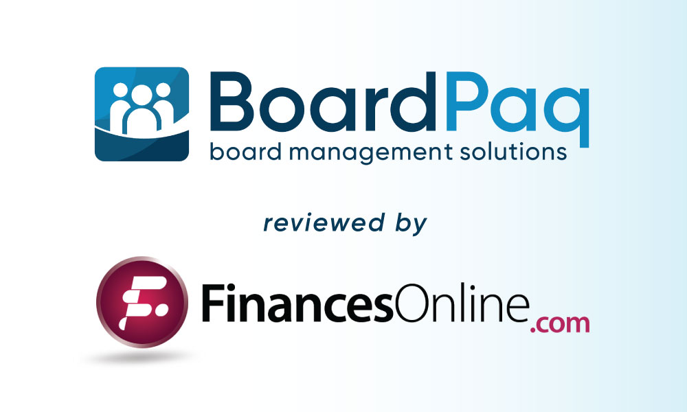 BoardPaq earns two collaboration software awards from FinancesOnline