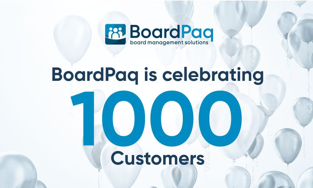 BoardPaq's 1000 Customer Milestone