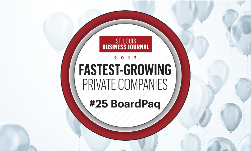 BoardPaq Recognized by the St. Louis Business Journal