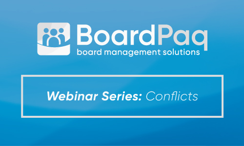 BoardPaq - Board Portal - Handling Conflicts of Interest